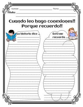 Writing Bundle for Connections, Inferences, Predictions and More - Spanish