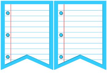 Writing Bunting Banners {Editable}