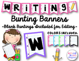 Writing Bunting Banners {Editable}