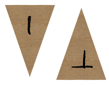 Writing Burlap Banner