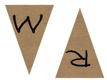 Writing Burlap Banner