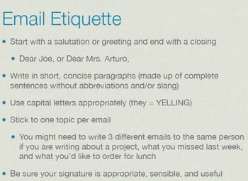 Writing Business Documents: Email, Cover Letter, and Resume Presentations