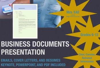 Writing Business Documents: Email, Cover Letter, and Resum