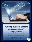 "WRITING - ""Business Letters & Memorandums"""