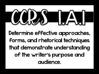 Writing CCRS (Texas)
