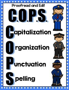 Writing COPS-Proofreading and Editing