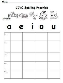 Writing CVC, CCVC Words and Sentences