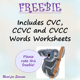 Writing CVC, CCVC and CVCC Words Worksheets
