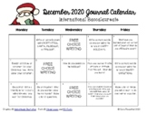 Writing Calendar - December 2018 & IB