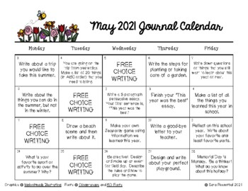 Writing Calendar - May 2017 & IB