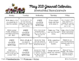 Writing Calendar - May 2019 & IB