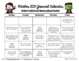 Writing Calendar - October 2018 & IB