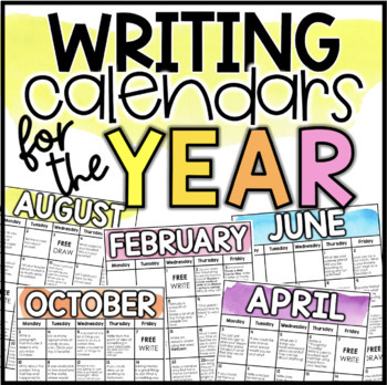 Writing Calendars for the Year 2019-2020