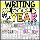 Writing Calendars & Menus for the Year (2020-2021)