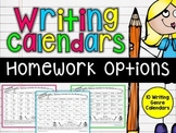 Writing Calendars {Genre Specific Homework Practice}