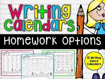 Writing Calendars {Genre Specific Homework Practice}