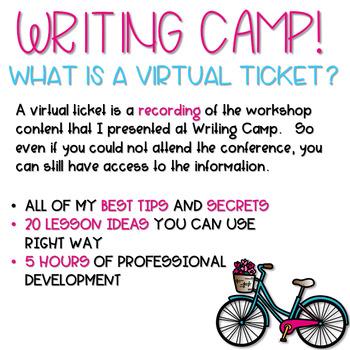 Writing Camp Professional Development Virtual Ticket