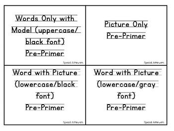 Writing Cards Activity (Dolch Pre-Primer Aligned)