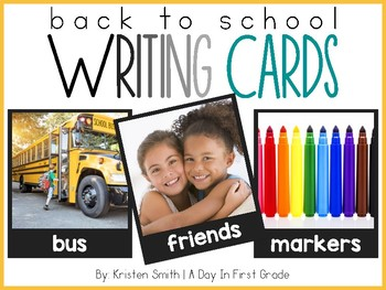 Writing Cards- Back To School Word Cards