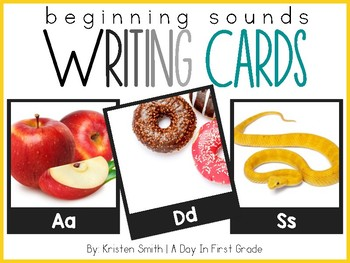 Writing Cards- Beginning Sound Cards