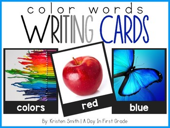 Writing Cards- Color Word Cards