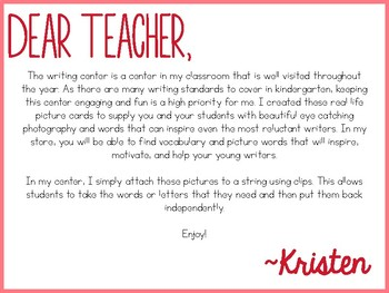 Writing Cards- February Word Cards