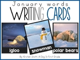 Writing Cards- January Word Cards