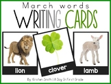 Writing Cards- March Word Cards