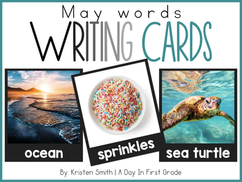 Writing Cards- May Word Cards