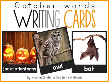 Writing Cards- October Word Cards