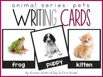 Writing Cards- Pet Word Cards