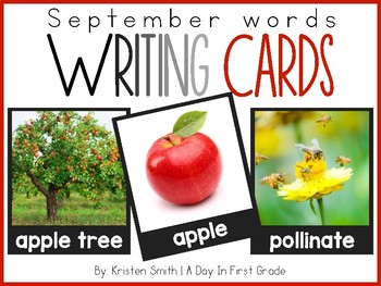 Writing Cards- September Word Cards