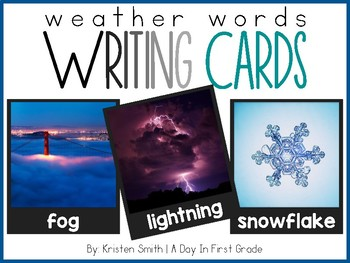Writing Cards- Weather Word Cards