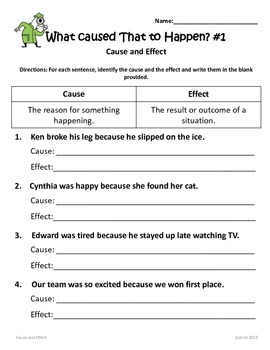 Writing Cause and Effect Sentences: 1st-3rd    by Common