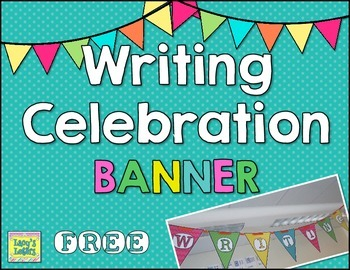 Writing Celebration Banner FREE