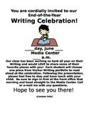 Writing Celebration Flyer