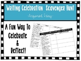 Writing Celebration Scavenger Hunt - Argument Essay