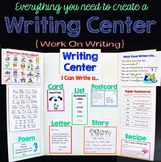 Writing Center - Perfect For Literacy Centers, Work on Writing and Word Work!