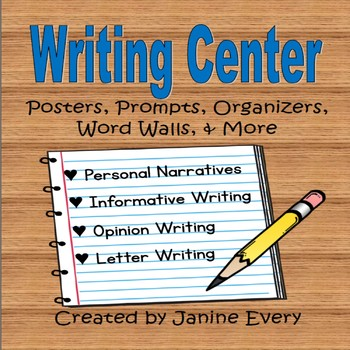 Writing Center:  Narrative, Informative, Opinion, & Letter