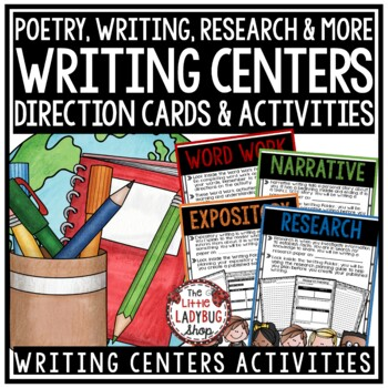 Writing Center Activities - 3rd Grade, 4th & More