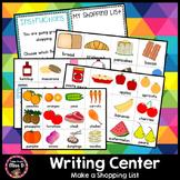 Writing Center - Shopping List