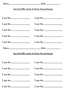 Writing Center ABC Cards