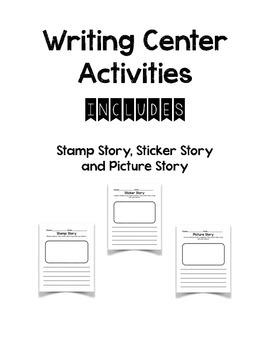 Writing Center Activities