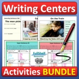 Writing Center Activities 4th 5th Grade Home Learning BUNDLE