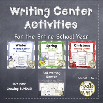 Writing Center | Writing Center Activities | For The Whole Year | BUNDLE