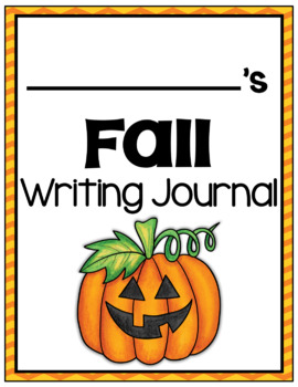 Writing Center Activities - Photo Prompts - Fall Edition