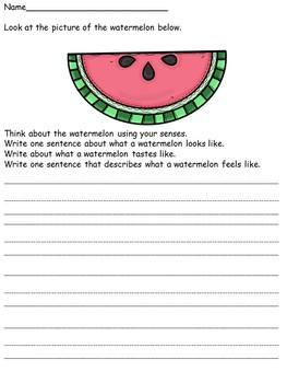 Writing Center Activities for Lower Elementary No Prep Set 1