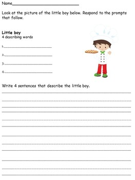 Writing Center Activities for Lower Elementary No Prep Set 1 & Set 2