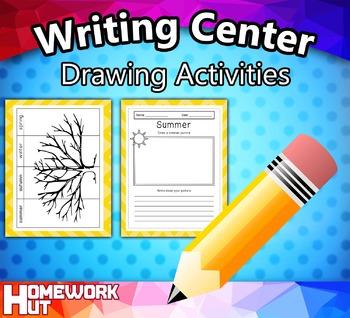 Writing Center Activity - Seasonal Drawing Exercise