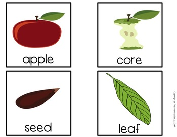 Apples Themed Writing Center for PreK, Kindergarten, and Special Education